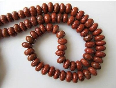 10mm Red Jasper Rondelle Beads Smooth Rondelle Beads 18 Inch Strand GDS664