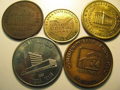 5 Different Bank Tokens Medals #2