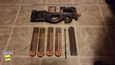 Airsoft G&G P90 wired to Deans with 4 Mags and more