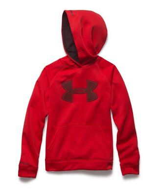 Under Armour Boys Fleece Storm Hoodie 1259690 - Red/Black S
