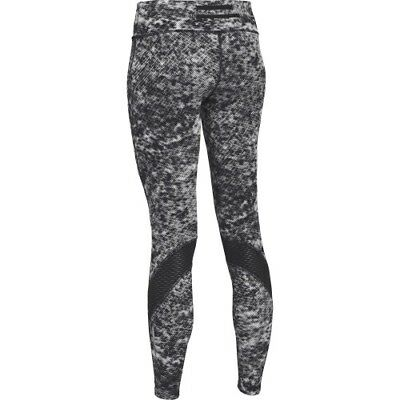Under Armour 1264387-001 Women's Fly-By Printed Legging - Black/Reflective - L