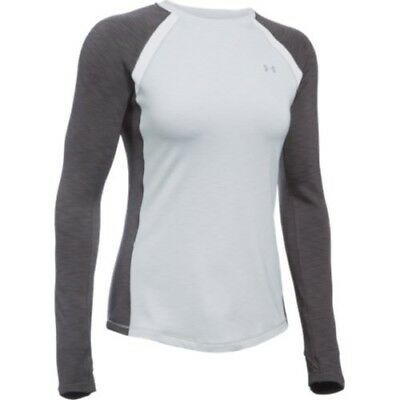 Under Armour 1281244-053 Women's ColdGear Crew - Air Force Grey/Carbon-Small