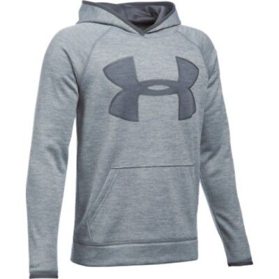 Under Armour 1281028-035 Boys Twist Hoodie - Steel/Graphite-Medium
