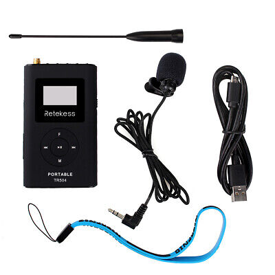 Portable 0.6 W FM Transmitter MP3 Broadcast Radio for Car Meeting/Tour Guide US