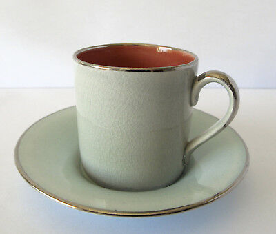 Rare Vintage Susie Cooper Coffee Can and Saucer.  c. 1930's  Stunning condition