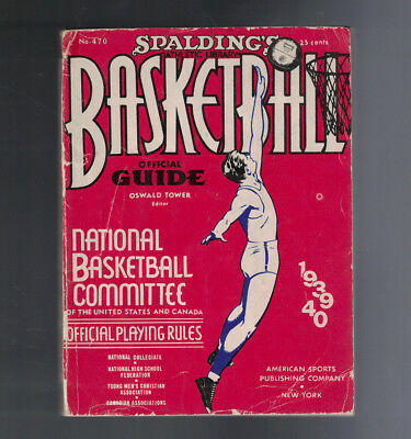 1939-40 Spaldings Basketball Official Guide