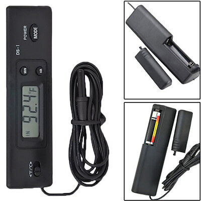 LCD Digital Fish Tank Aquarium Temperature Meter Thermometer Wired Remote Sensor