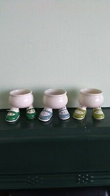 Carlton Ware England Lustre  Walking Ware  Egg Cups