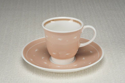 """Vintage 1950's Susie Cooper """"Quail"""" shape Cup and Saucer - Blush - Exc Cond"""