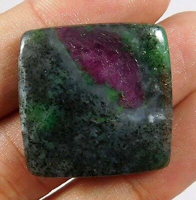 45 Cts. 100% NATURAL RUBY ZOISITE LOOSE CAB GEMSTONE (AQ182)