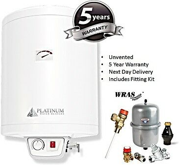 30 Litre Electric Water Heater With WRAS Unvented Kit - 30L 1.5kW