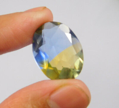12 Cts. Treated Faceted Oval Shape Ametrine Cut Loose Cab Gemstone NG1952