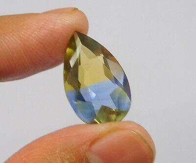 9 Cts. Treated Faceted Pear Shape Ametrine Cut Loose Cab Gemstone NG2027