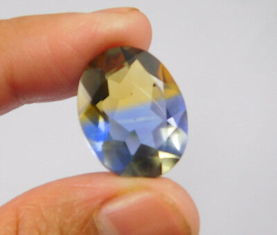 12 Cts. Treated Faceted Oval Shape Ametrine Cut Loose Cab Gemstone NG1950