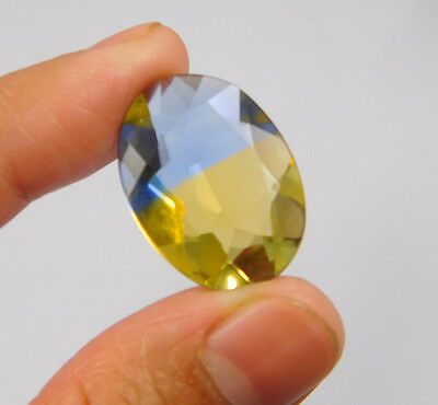 15 Cts. Treated Faceted Oval Shape Ametrine Cut Loose Cab Gemstone NG1956