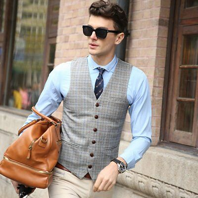Zicac Men Top Designed Formal Casual Slim Fit Skinny dress vest Tuxedo Waistcoat