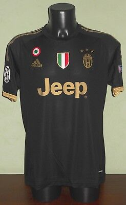 Maglia POGBA #10 Juventus MATCH WORN / ISSUED Champions League 15/16 third shirt