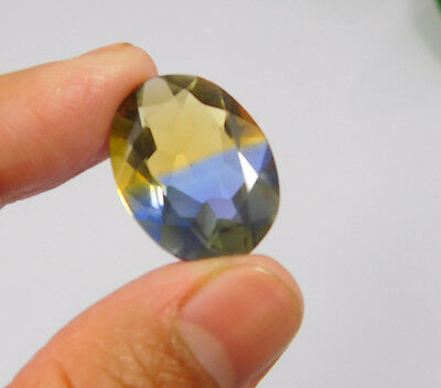 16 Cts. Treated Faceted Oval Shape Ametrine Cut Loose Cab Gemstone NG1957