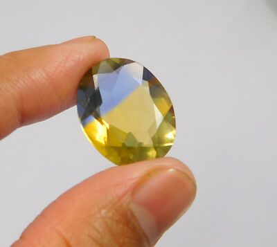 13 Cts. Treated Faceted Oval Shape Ametrine Cut Loose Cab Gemstone NG1959