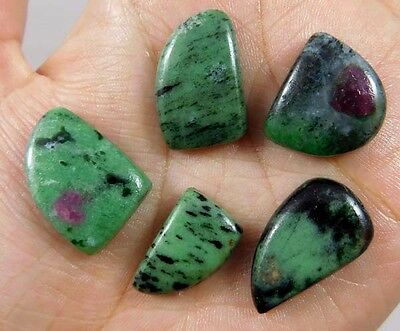 95 Cts. NATURAL STUNNING RUBY ZOISITE LOT LOOSE CAB GEMSTONE (AQ229)
