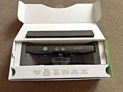 Boxed Kinect Sensor for Microsoft Xbox 360 Black With Power Cable/plug