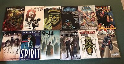 LOT OF 12 Trades!! DC, Marvel,2000AD,Dark Horse And More! Batman,Wolverine