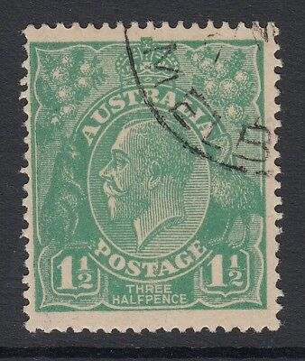 KGV 1923-24   1 1/2d Green   Single Crown wmk  CTO
