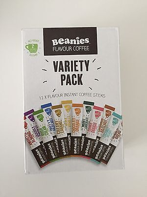 Beanies 12 Different Flavours Sticks Instant Coffee Box