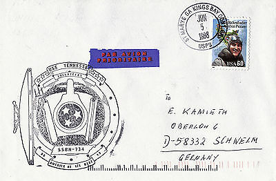 USS TENNESSEE SSBN 734 SUBMARINE NAVAL COVER 5 June 1998