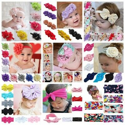 Kids Girl Baby Headband Toddler Lace Bow Flower Infant Hair Band Accessories Lot