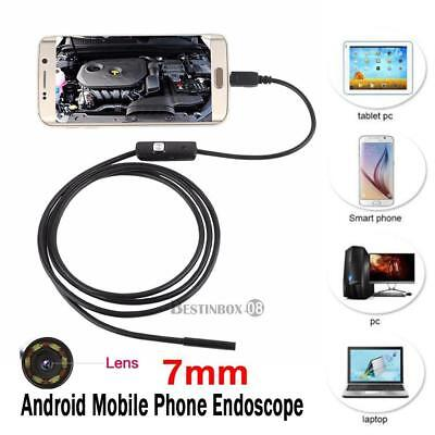 1-10MM Android PC HD Endoscope Waterproof Snake Borescope USB Inspection Camera