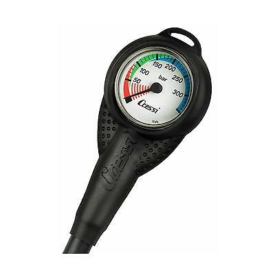 Scuba SPG Air Pressure Gauge Slimline with HP Hose and Boot