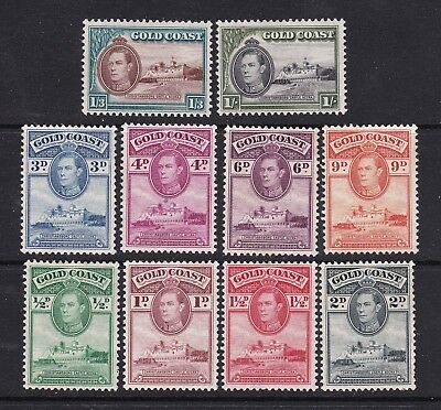 Gold Coast 1938 part set of 10 mint hinged