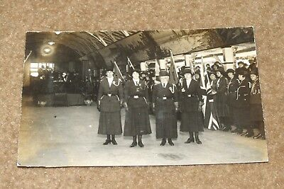 GIRL GUIDES 1923 Rally at Dreamland MARGATE vintage real photo postcard