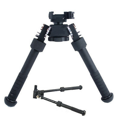 "Portable 4.75""-9"" Tactical QD Picatinny RIS Rail Mount Adjustable Rifle Bipod"