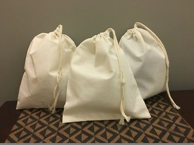 "6""x8"" Cotton Single Drawstring Muslin Bags (Natural Color)"