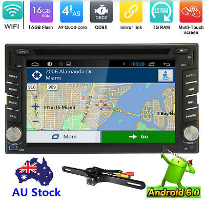Android 6.0 Double 2 Din Car Stereo DVD/CD/GPS/USB/SD Player WiFi 3G OBD DVR+Cam