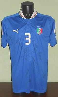 Maglia PELUSO #3 Italia MATCH WORN and SIGNED Qualif. World Cup 2014 home shirt
