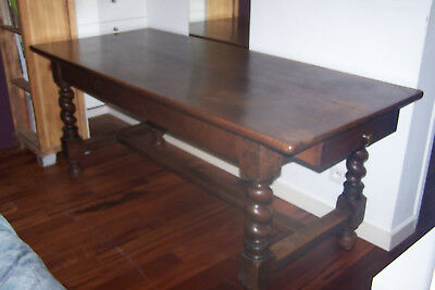 Table Bois Massif Style Louis Xiii / 6  Places