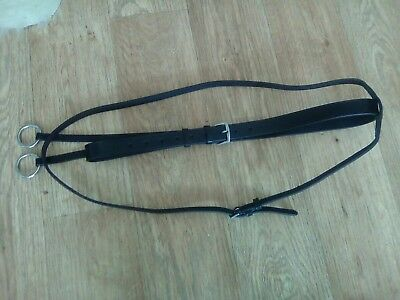 bn black leather full size running martingale