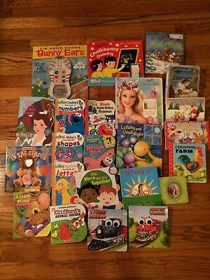 Lot of 23 Board Books - Disney, Barbie, Christmas, Educational, Etc
