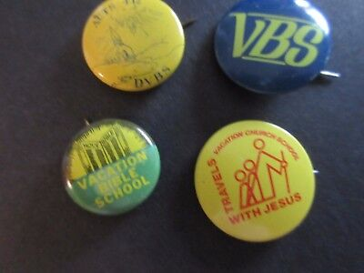 Vintage Lot of Vintage VACATION BIBLE SCHOOL Pin-Back Buttons