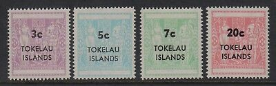 Tokelau Islands 1967 Surcharges mint unhinged set 4 stamps