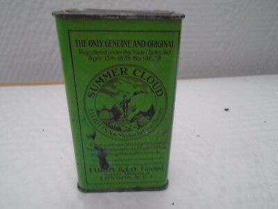 Vintage Tin. Summer Cloud Shading Greenhouse Glass Tin -Corry & Co. Ltd London