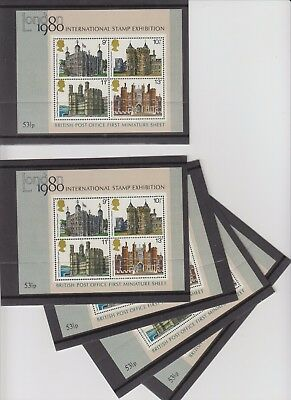 1980 GB LONDON INTERNATIONAL STAMP EXHIBITION First Mini Sheet SGMS1119