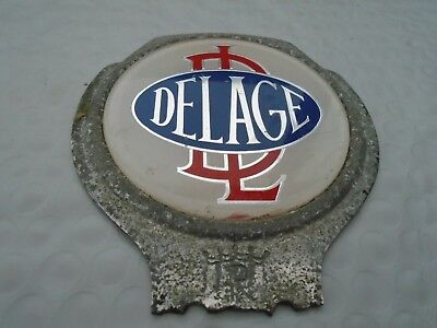Delage Car, Classic Car Automobile Badge Enamel. Delage Car Club. Good find