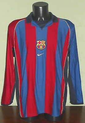 Maglia REIZIGER #2 Barcellona MATCH WORN / ISSUED LFP Liga 2001/02 home LS shirt
