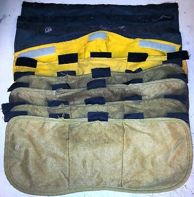 Lot of 9 Used FireFighter NOMEX Shroud Neck Face Guard Black Yellow Brown NAFECO