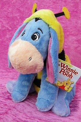 """Disney ~ EEYORE IN BUMBLE BEE COSTUME OUTFIT ~ 9"""" Soft Plush Toy NEW"""