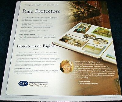 "NEW SEALED CREATIVE MEMORIES 12 x 12"" SCRAPBOOK PAGE PROTECTORS 16 SHEETS"